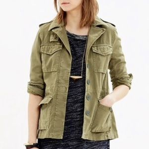 Madewell Outbound Jacket All-Weather Olive Green